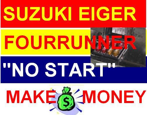 Suzuki Eiger Fourrunner - Engine Crank, But Will Not Start! No Fire