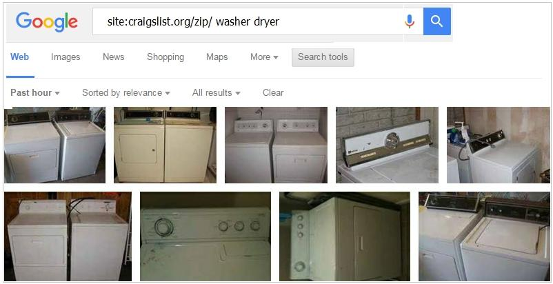 Search Craigslist Nationwide Using Google