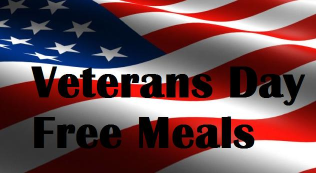 Huge List of 2016 Veterans Day Free Meals