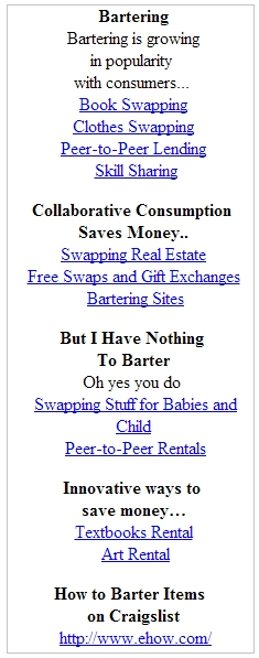 Click Here to Learn How to Barter on Craigslist - Get Truckloads of Stuff Without Paying Cash or Credit